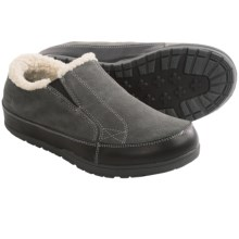 Patagonia Activist Fleece Moccasins - Leather (For Men) in Forge Grey - Closeouts
