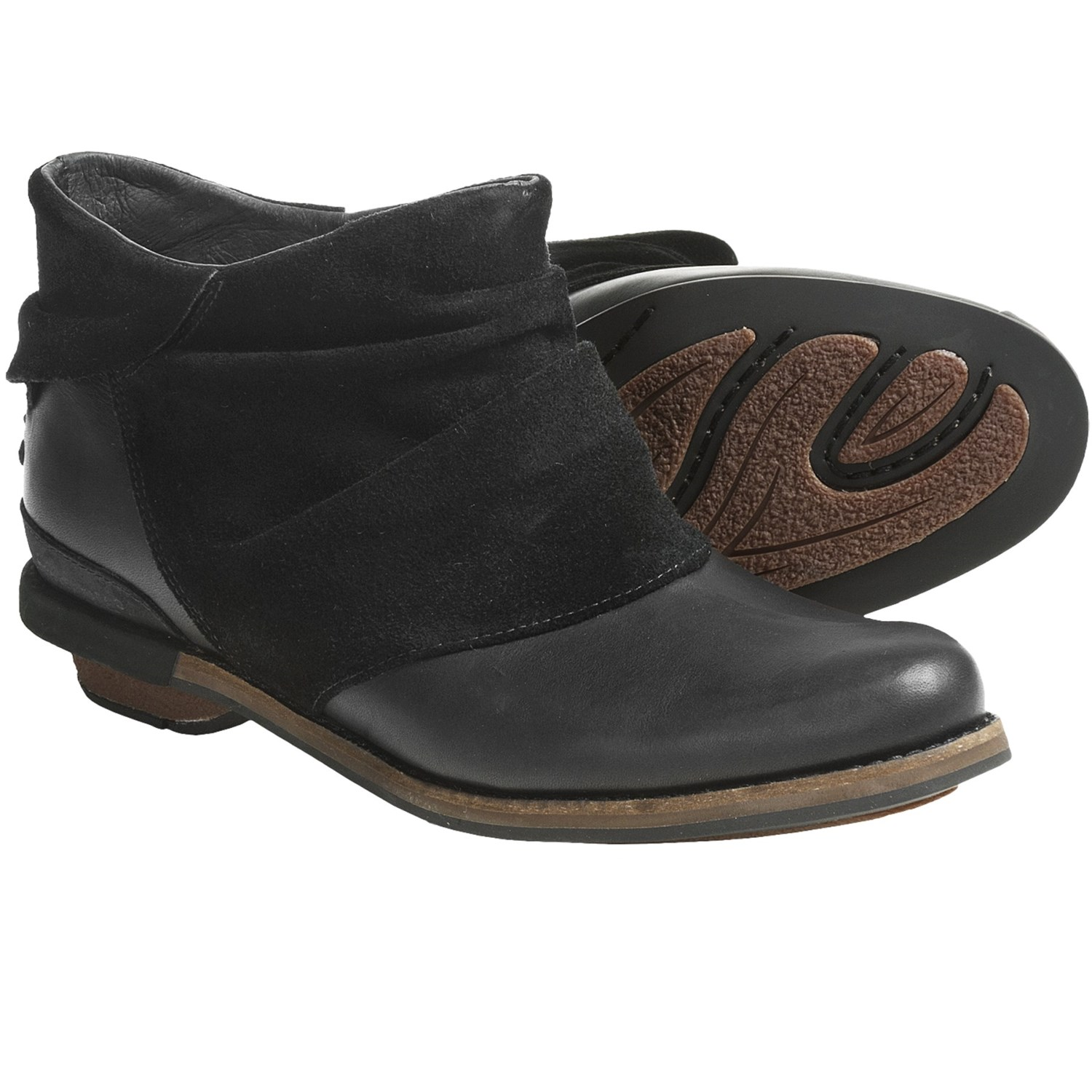 patagonia addie ruffle ankle boots leather recycled