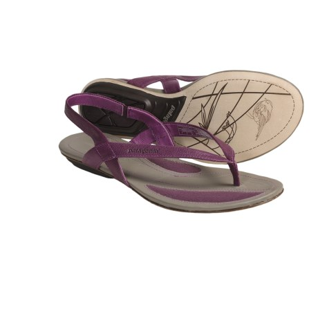 Patagonia Bandha Sling Thong Sandals (For Women) in Currant