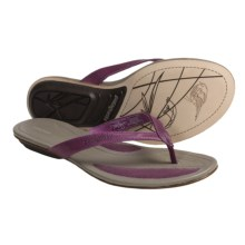 Patagonia Bandha Thong Sandals - Leather (For Women) in Currant - Closeouts