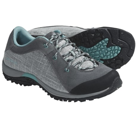 Patagonia Bly Hiking Shoes - Hemp, Recycled Materials (For Women) in Narwhal Grey/Modern Blue