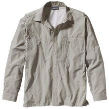 Patagonia Cool Shade Frying Pan Shirt - UPF 40, Long Sleeve (For Men) in Alpha Green - Closeouts