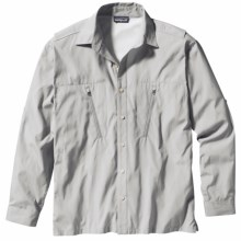 Patagonia Cool Shade Frying Pan Shirt - UPF 40, Long Sleeve (For Men) in Gull Grey - Closeouts