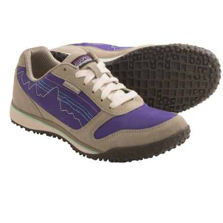 Patagonia Fitz Sneak Trail Shoes - Suede (For Women) in Aluminum/Ink Blue