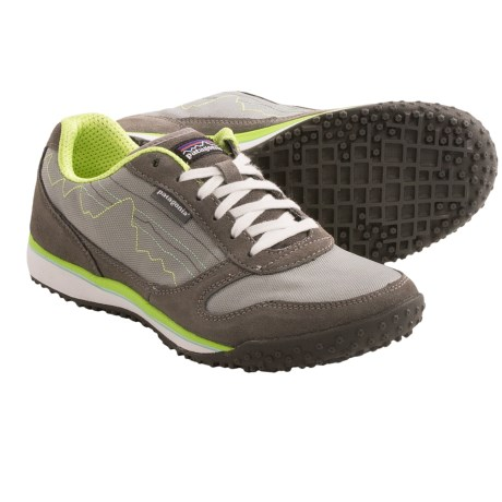Patagonia Fitz Sneak Trail Shoes - Suede (For Women) in Narwhal/Electric