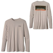 Patagonia Graphic Tech Fish T-Shirt - Long Sleeve (For Men) in Brook Skin/Stone - Closeouts
