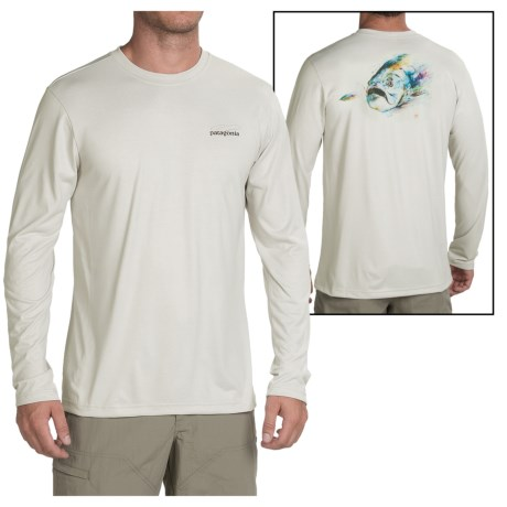 Patagonia Graphic Tech Fish T Shirt Long Sleeve (For Men)