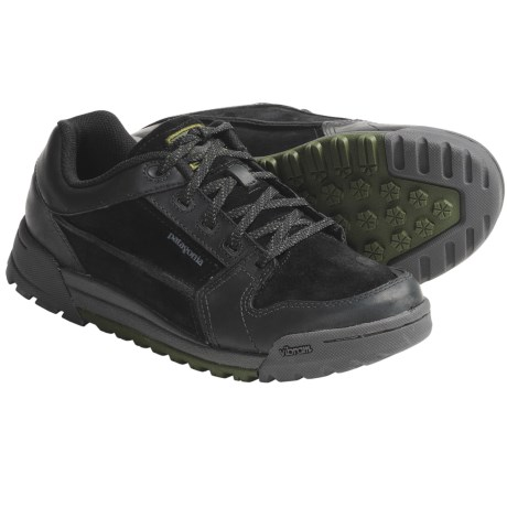 Patagonia Hog Tie Shoes - Leather, Recycled Materials (For Men) in Black