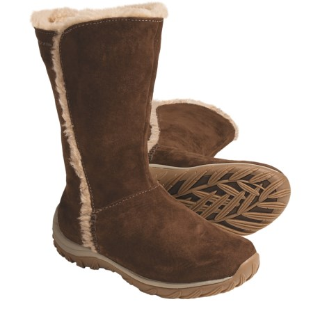 Patagonia Lugano Winter Boots - Waterproof, Polartec® Fleece Lining (For Women) in Chimney