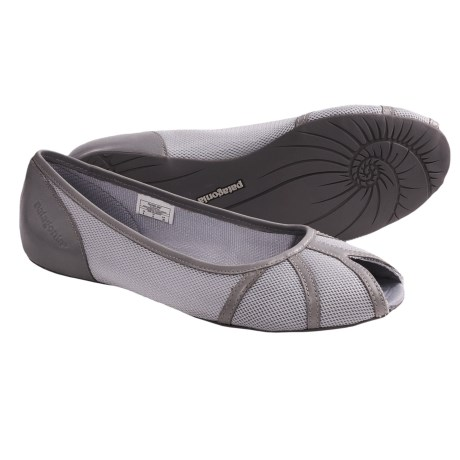 Patagonia Maha Breathe Peep Toe Flats (For Women) in Sable Brown