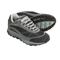 Patagonia Nine Trails Trail Shoes - Recycled Materials (For Women) in Forge Grey/Prairie Mist