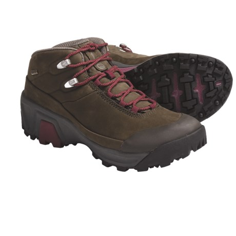 Patagonia P26 Mid Gore-Tex® Backpacking Boot - Waterproof, Nubuck (For Women) in Henna Brown/Cranberry