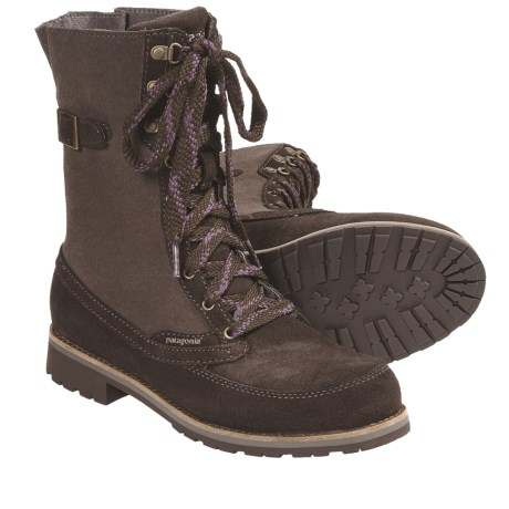 Patagonia Tin Shed Buckle Boots (For Women) in Espresso