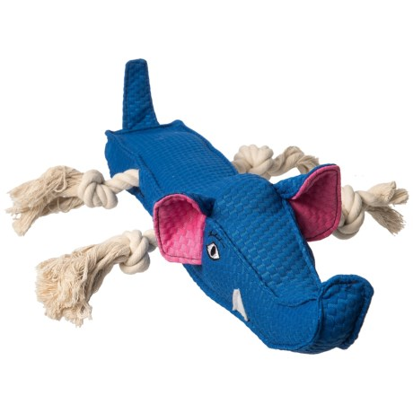 """Patchwork Pet Elephant Stick Squeaker Dog Toy - 20"""" in Blue"""