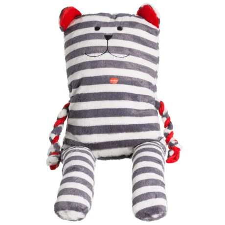 Patchwork Pet Grizzly Greybar Plush Dog Toy - Squeaker in Blue