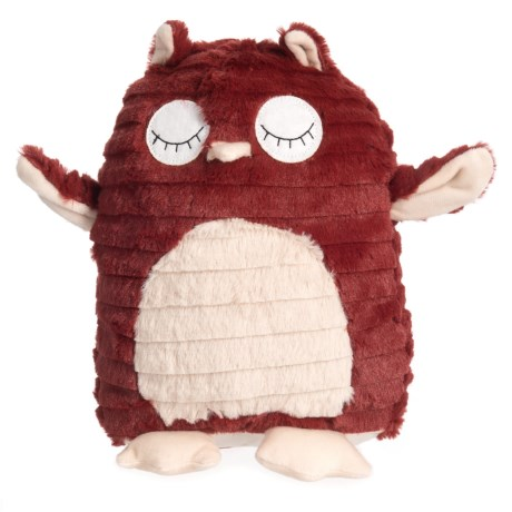 "Patchwork Pet Hoot the Owl Dog Toy - 13"" in Red/White"