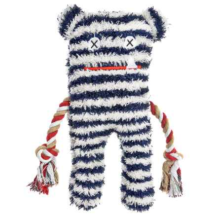 Patchwork Pet Lenny Greybar Plush Toy - Squeaker in Dark Blue - Closeouts