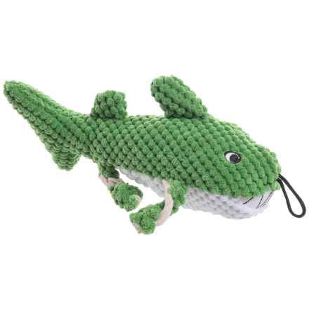 """Patchwork Pet Pet Shark Dog Toy - 10"""", Squeaker in Multi - Closeouts"""