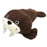 Patchwork Pet Walrus Plush Dog Toy - Squeaker