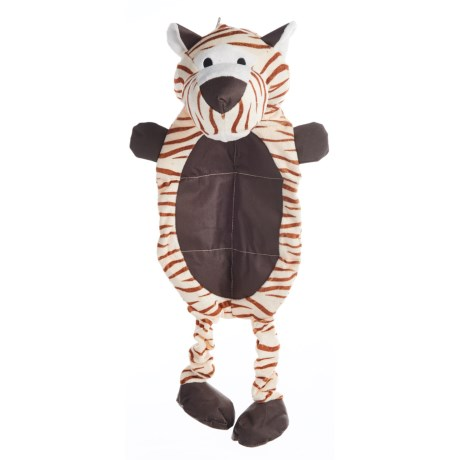 "Patchwork Pet WILD MAT DOG TOY W/SQUEAKER - 23"" in Tiger"