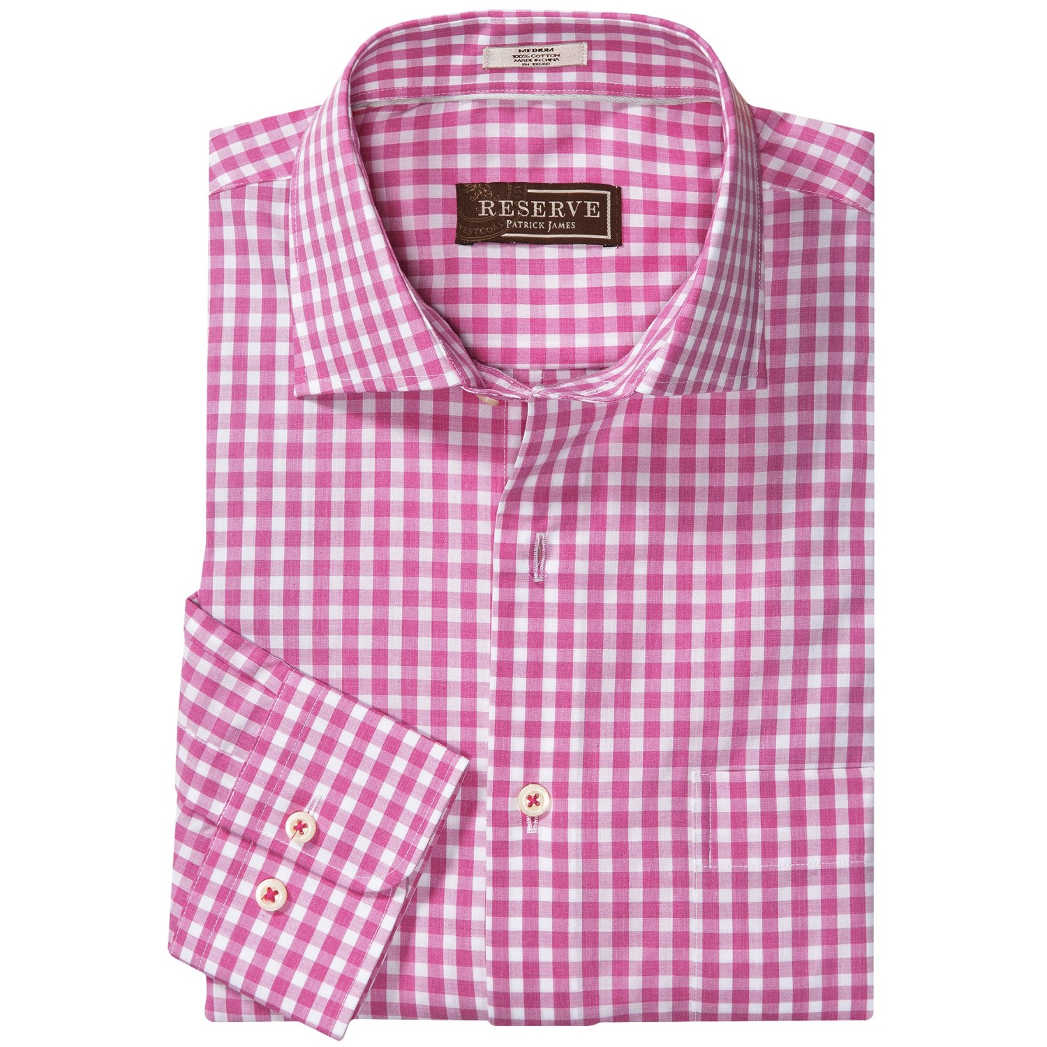 Patrick james reserve melange check shirt french front for French cut shirt sleeve