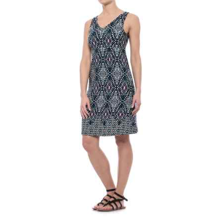 Patterned Dress - Sleeveless (For Women) in Navy Print - 2nds