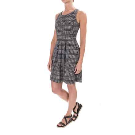 Patterned Stretch-Knit Dress - Sleeveless (For Women) in Black Combo - 2nds
