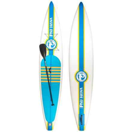 "Pau Hana Cadence Air Inflatable Stand-Up Paddle Board Set - 12'6"" in White - Overstock"