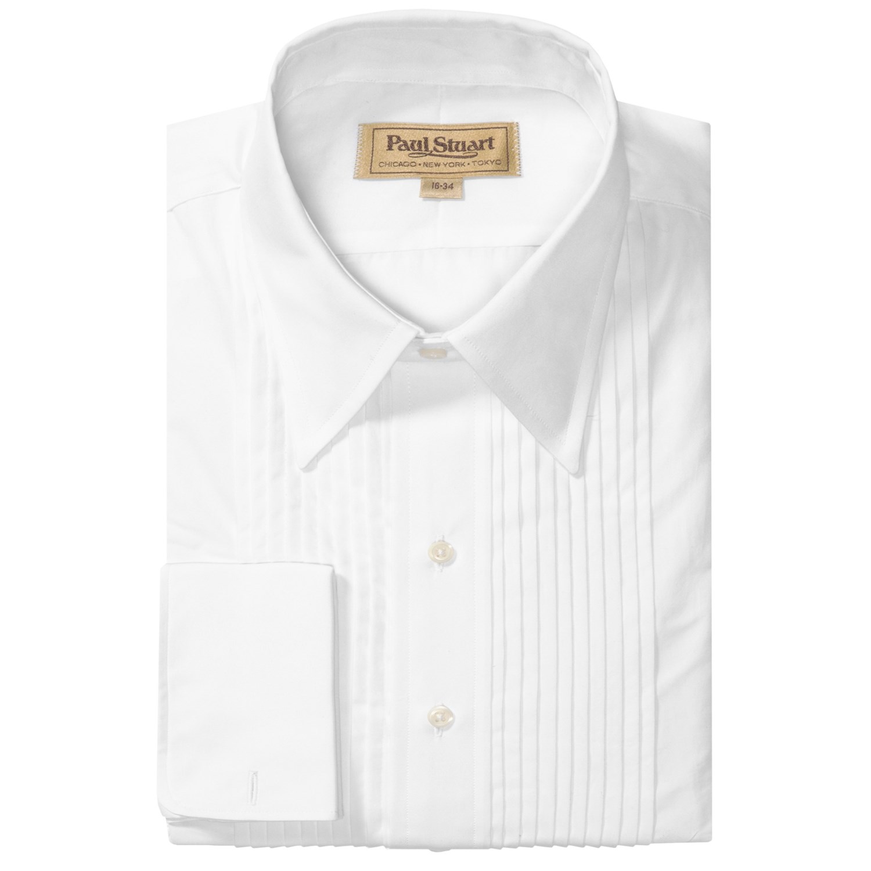 Paul Stuart Formal Point Collar Dress Shirt 10 Pleat