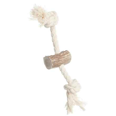 """Paws & Co. Rope Antler Dog Toy - 6"""" in See Photo - Closeouts"""