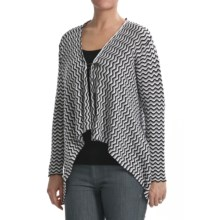 PBJ Sport Spring Cardigan Sweater - Cotton (For Women) in Grey Multi - Closeouts