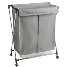 PC Brand Double Laundry Sorter in Grey - Closeouts