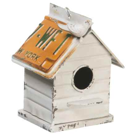 Pd Home & Garden Cabin Birdhouse in White/Yellow - Closeouts