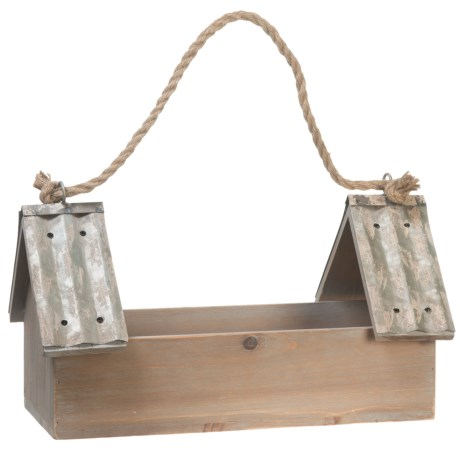 pd home garden double birdhouse planter in natural - Pd Home And Garden