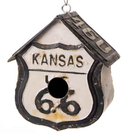 PD Home & Garden Kansas 66 Tin Birdhouse in Black/White - Closeouts