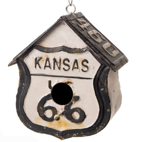 pd home garden kansas 66 tin birdhouse in blackwhite - Pd Home And Garden