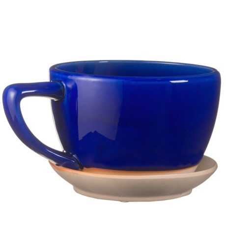 Pd Home & Garden Large Ceramic Blue Coffee Mug Planter in Blue