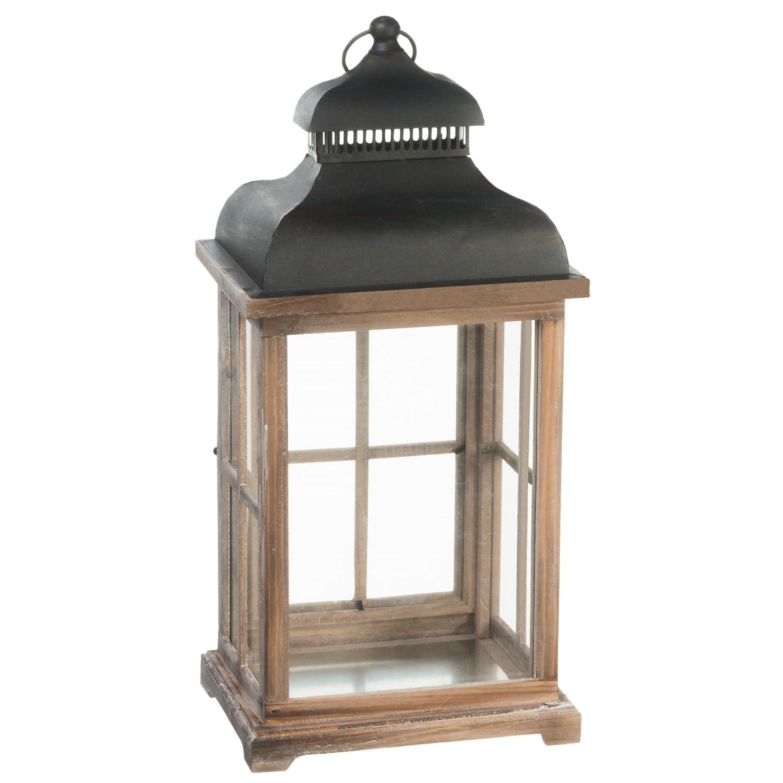 Pd home garden large wooden lantern save 40 for Wooden garden lanterns