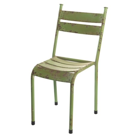 Pd Home & Garden Old Green Tin Chair in Green