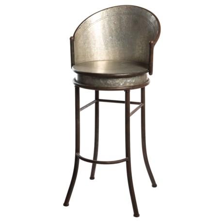 Pd Home & Garden Old Tin Bar Pub Stool in Silver