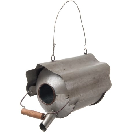 Pd Home & Garden Old Tin Jug Birdhouse in Silver