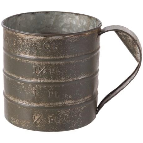 Pd Home & Garden Old Tin Measuring Cup Planter in Silver