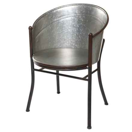 Pd Home & Garden Old Tub Chair in Tin - Closeouts