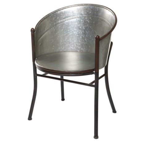Pd Home & Garden Old Tub Chair in Tin