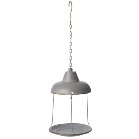 pd home garden rusty galvanized bird feeder in silver - Pd Home And Garden