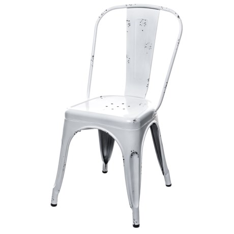 Pd Home & Garden Tin Bistro Chair in White