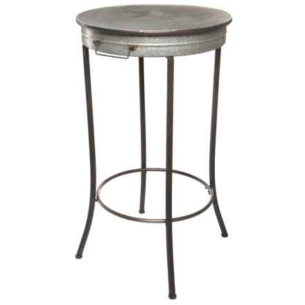 pd home garden tin pub table in silver closeouts - Pd Home And Garden