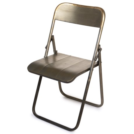 Pd Home & Garden Vintage Folding Chair in Brass