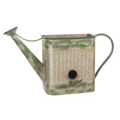 Pd Home & Garden Wall Birdhouse Planter in Silver/Green