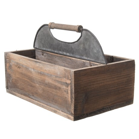 Pd Home & Garden Wood and Tin Tool Box in Natural